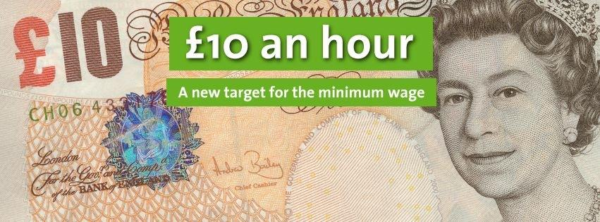 £10 an hour new minimum wage